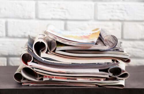 Oude tijdschriften zijn ook herbruikbare spullen