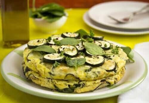 Een heerlijke vegan omelet met courgette