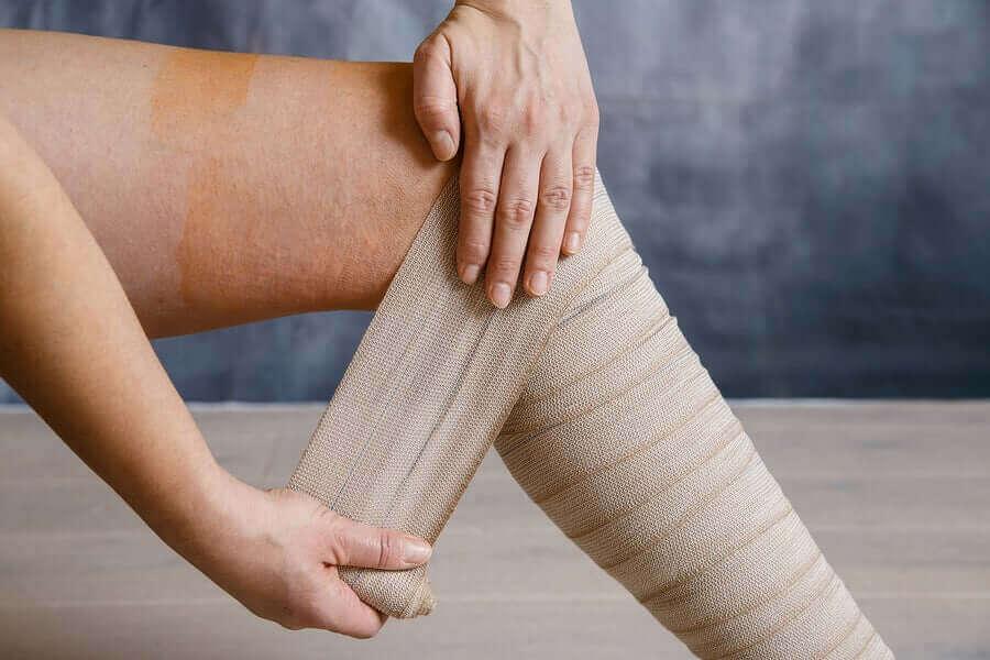 Drukverband voor zware benen