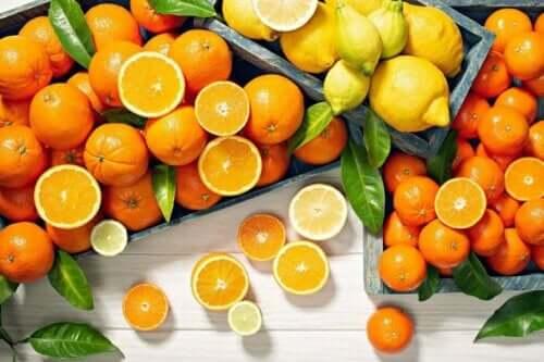 Citrusvruchten bevatten vitamine c