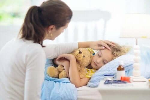 Netelroos bij kinderen kan slopend zijn