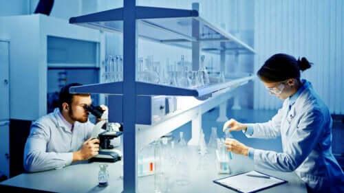 Onderzoekers in een laboratorium