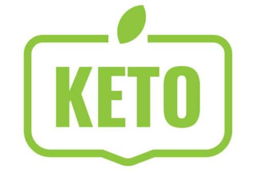 Het woord keto in het groen