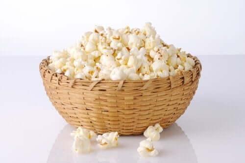 Waar of niet waar: kom je van popcorn aan?