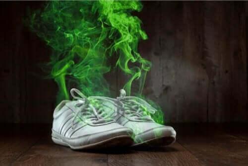 Sneakers met een walm