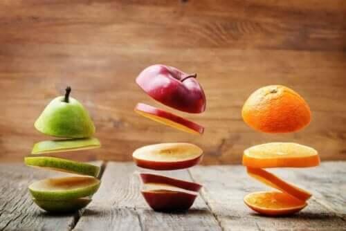 Gesneden fruit