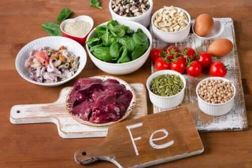 Voedingsmiddelen rijk aan ijzer