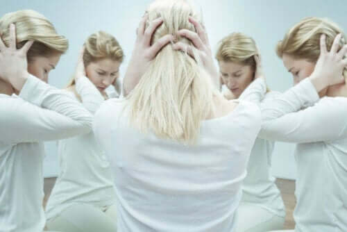 Vrouw met schizofrenie