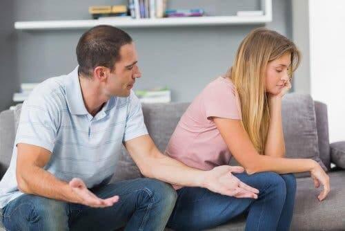 Partners hebben een discussie
