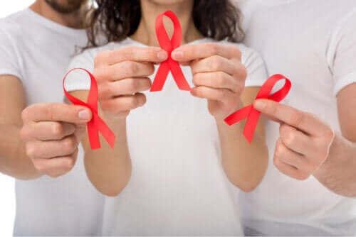 De symptomen van het humaan immunodeficiëntievirus
