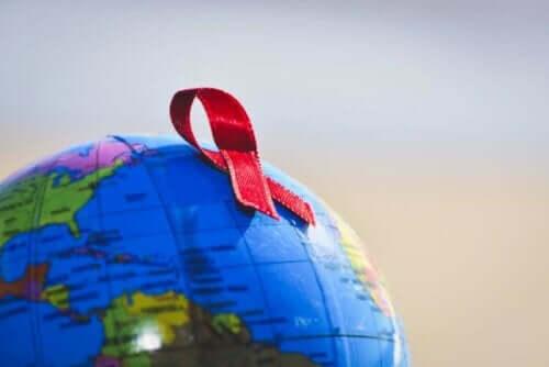Het rode lintje is wereldwijd bekend als symbool voor aids