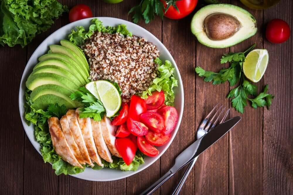 Salade zonder veel suiker in het dieet