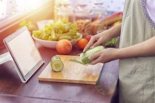 Groenten schoonmaken