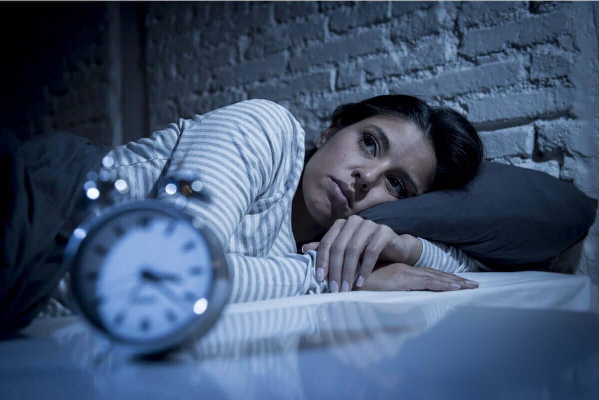 Vrouw met nachtelijke angst