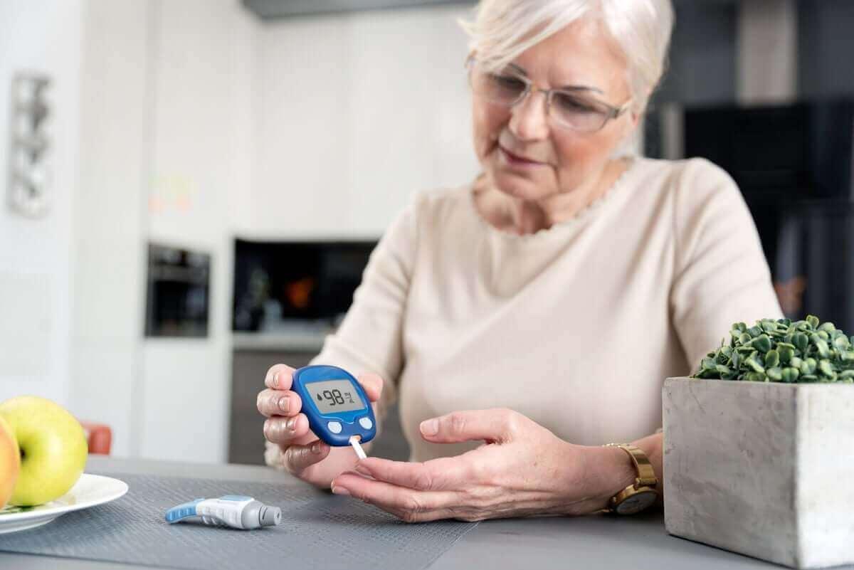 Vrouw met diabetes