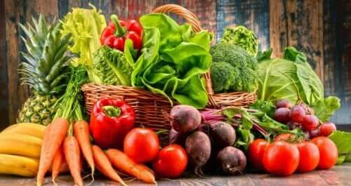 Verschillende groenten en fruit