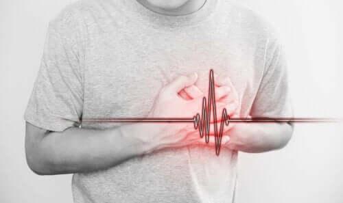 Een man met een hartaanval