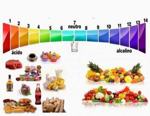 Schema met ph van voeding