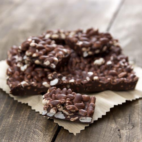 Zelfgemaakte chocoladerepen