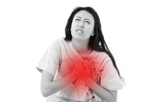 Vrouw met problemen aan het hart