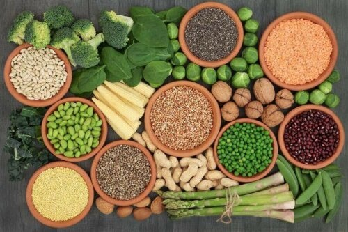 Bronnen van eiwitten in een veganistisch dieet