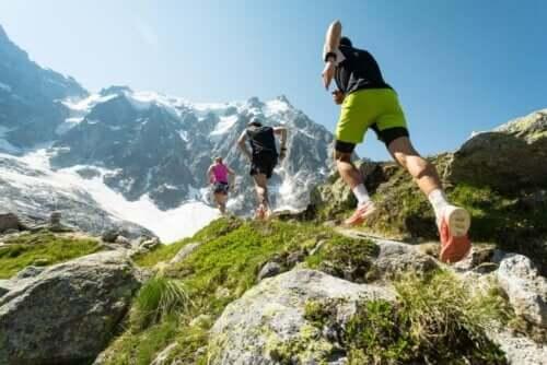 Hardlopen in de bergen