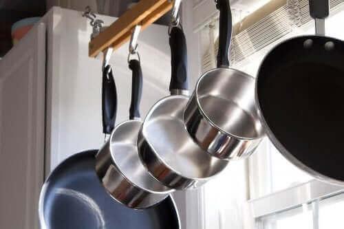 Set pannen van roestvrij staal