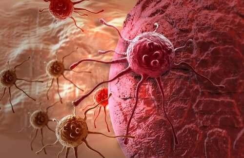 Kankercellen die het lichaam aanvallen
