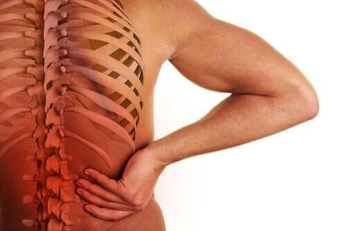 Lage rugpijn is een van de symptomen van spondyloarthropathieën