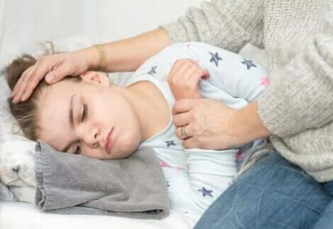 Een meisje dat aan epileptische aanvallen lijdt