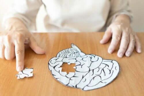 Puzzel van het meselijk brein