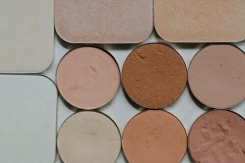 Verschillende kleuren make-up
