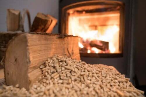 Pellets van hout