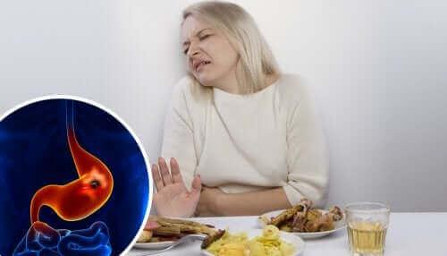 Vrouw kan niet eten door maagzweer