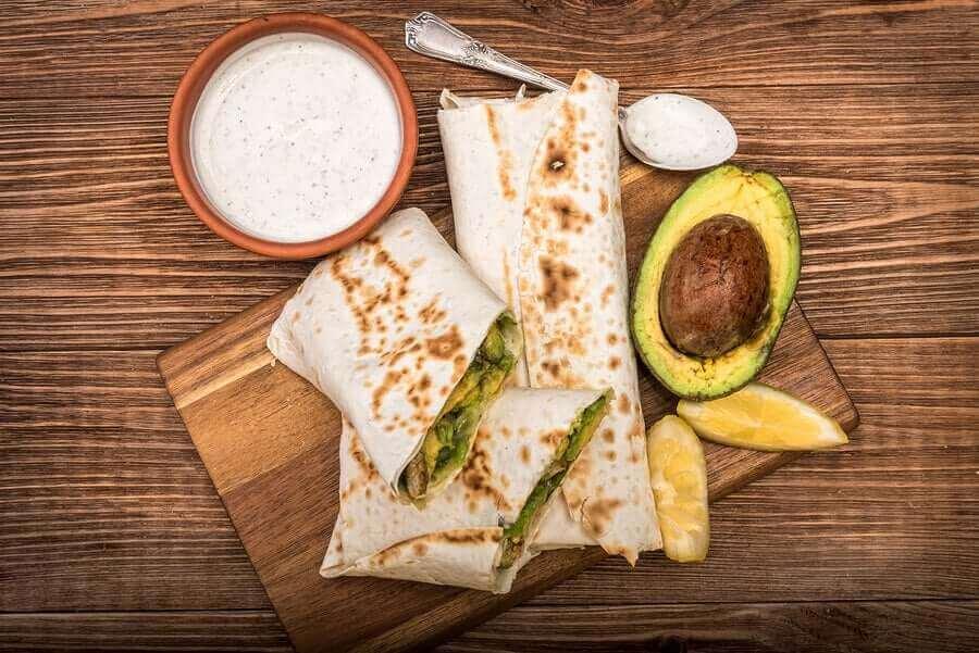 Wrap met kalkoen en avocado