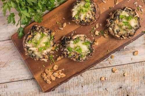 Hoe maak je veganistische gevulde champignons?