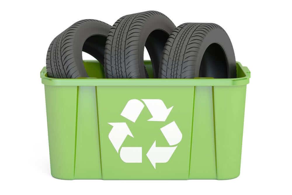 Banden om mee te recyclen