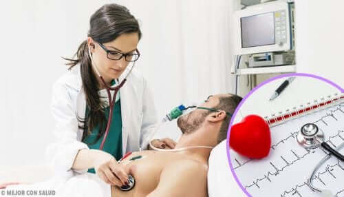 Patiënt ondergaat een hartonderzoek