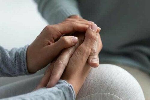 Een patiënt in therapie