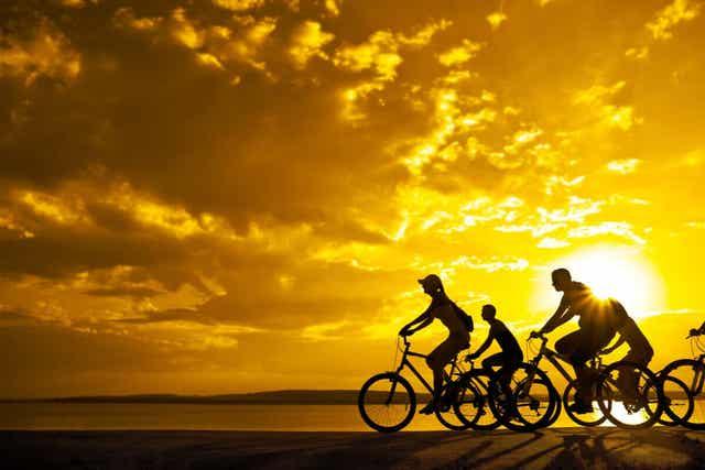Mensen die samen fietsen