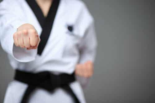 Karate-oefening