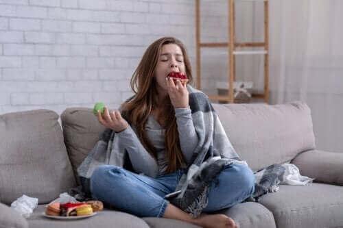 Ik kan niet stoppen met eten: oorzaken en adviezen