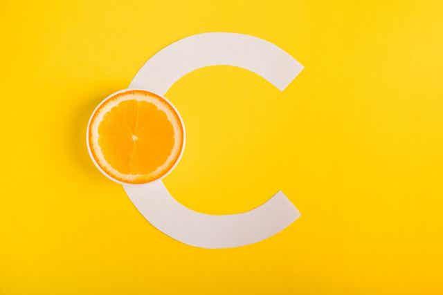 Sinaasappel en de c van vitamine c