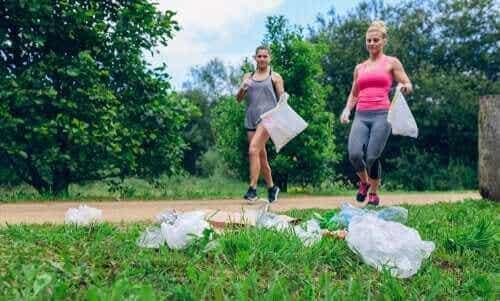 Plogging: sporten met zorg voor het milieu