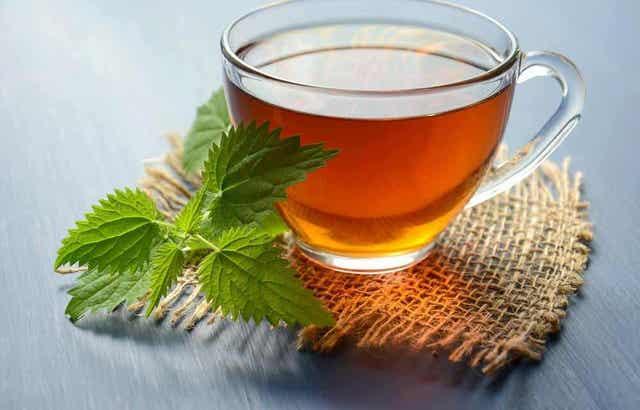 Kopje thee van karmozijnbes