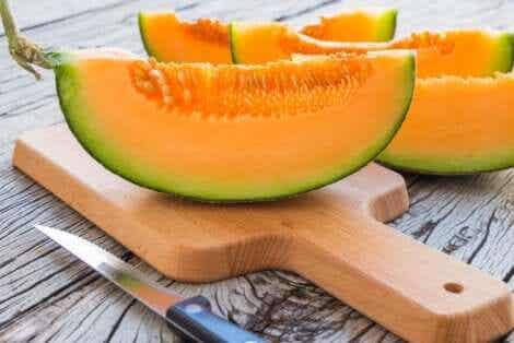Een heerlijk stuk meloen