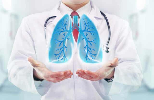 Diitale afbeelding van longen