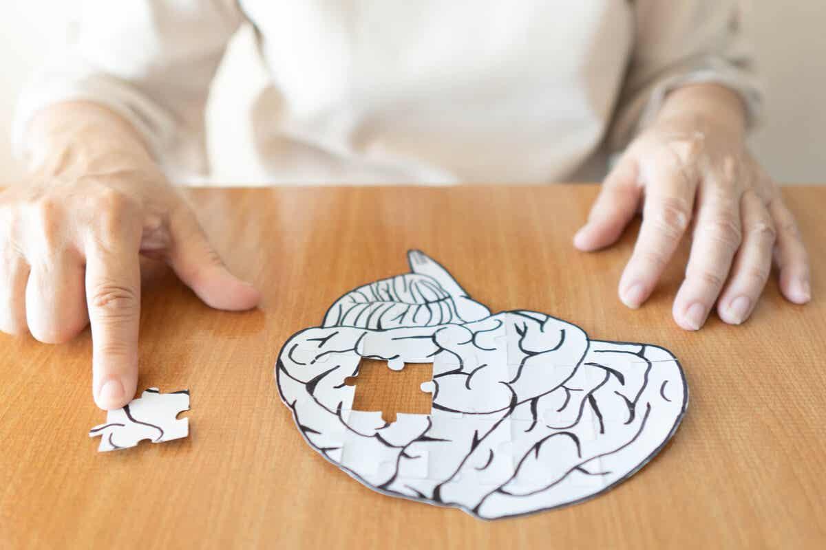 Puzzel van afbeelding van hersenen