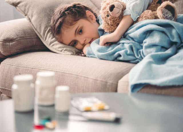 Medicijnen voor een ziek kind