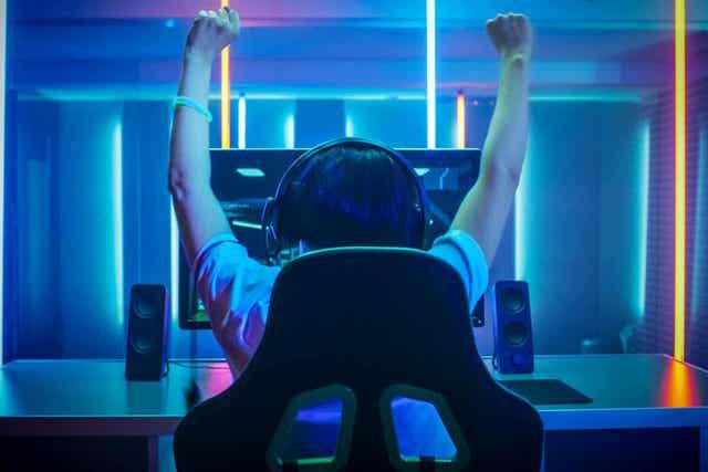 Gamer die juicht